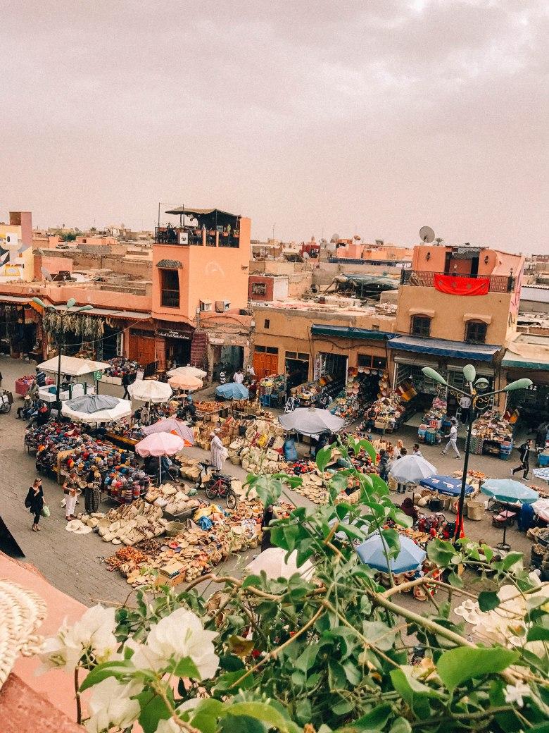 Café Des Épices Marrakesh market view