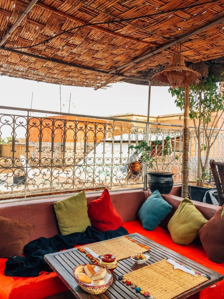 Souk Cafe rooftop terrace