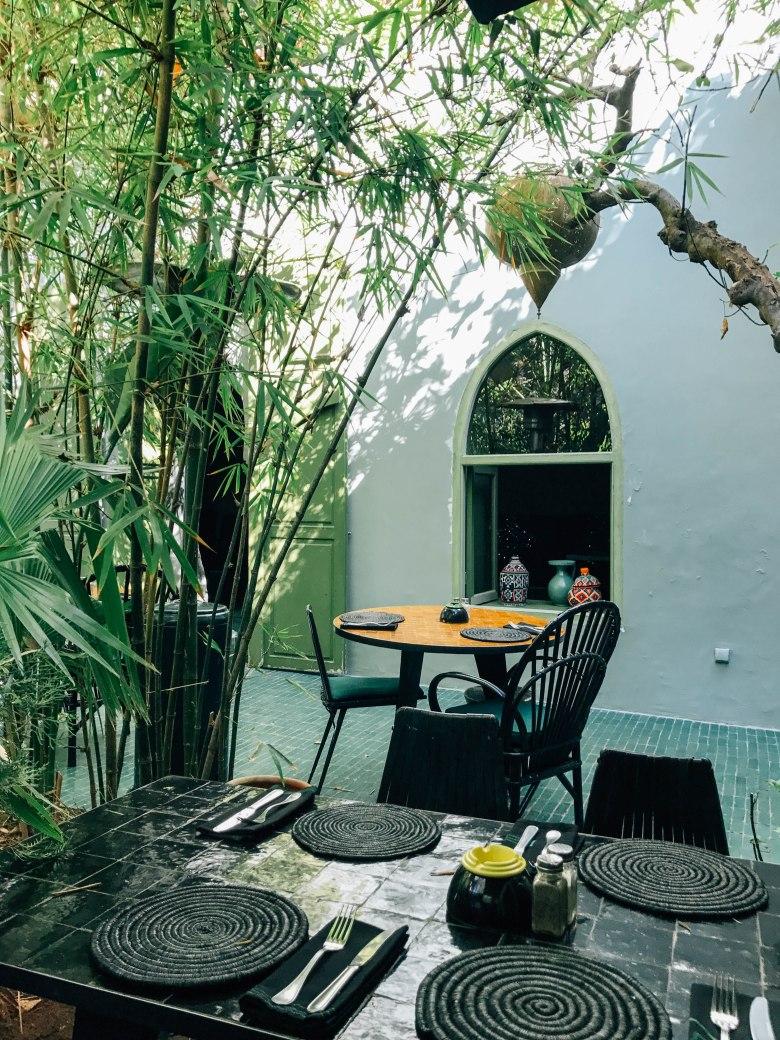Green restaurant Le Jardin in Marrakesh Morocco