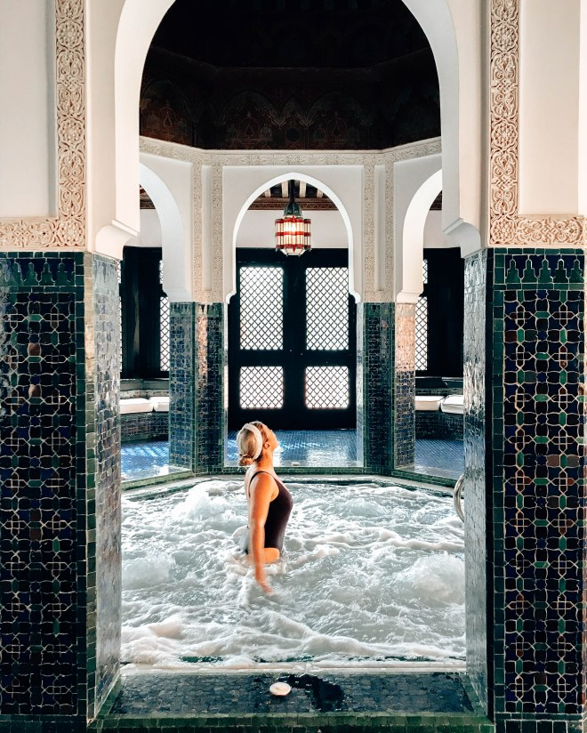 Indoor hot tub La Mamounia spa
