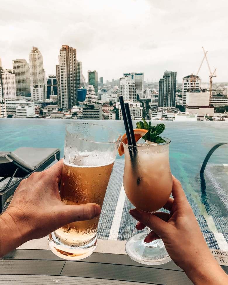 Rooftop pool and drinks Bangkok
