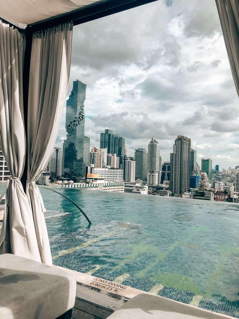 Rooftop pool Bangkok Marriott