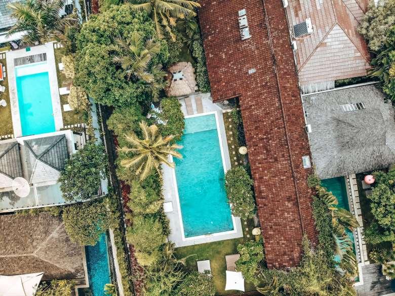 Drone pool Villa Karisa Seminyak