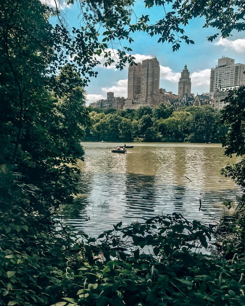 boats central park Lake New York