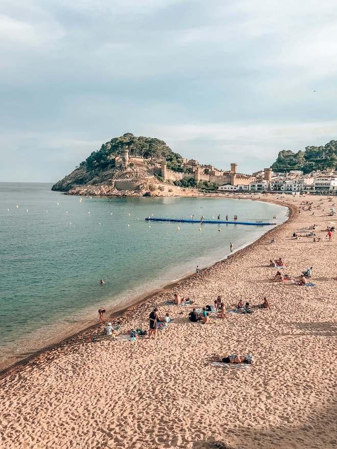 Tossa de Mar beach Spain