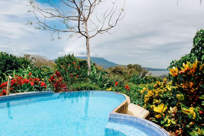 Pool at Totoco Eco-Lodge in Ometepe Island